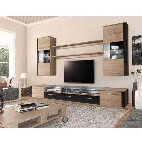 TV Mobile TV Porta Mobili Supporto Rome 120 Cm Rovere Scuro Wenge