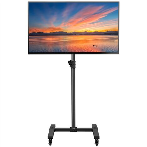 """main image of """"Mobile TV Stand on Wheels for 13-42 inch Screens, Rolling TV Cart, Height Adjustable Floor TV Stand up to 20kg, Max.VESA 200x200mm"""""""