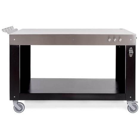 Carrello cucina bianco in legno p//alimenti 4 ruote 3 cestini 1 cassetto 47x37x76