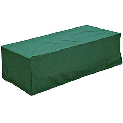 Mobilier de jardin imperméable VERT couvre le cube extérieur de table de rotin de BBQ de rectangle Sasicare