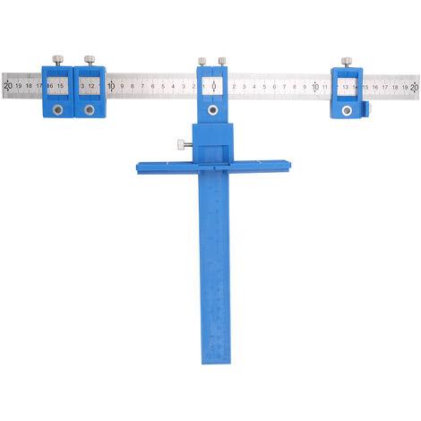 Mobilier multifonctionnel localisateur de poin?onnage outils de travail du bois auxiliaires bleu