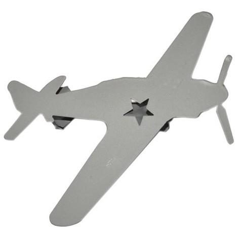 MOBOIS - Pince rideau Avion gris métal - lot de 2