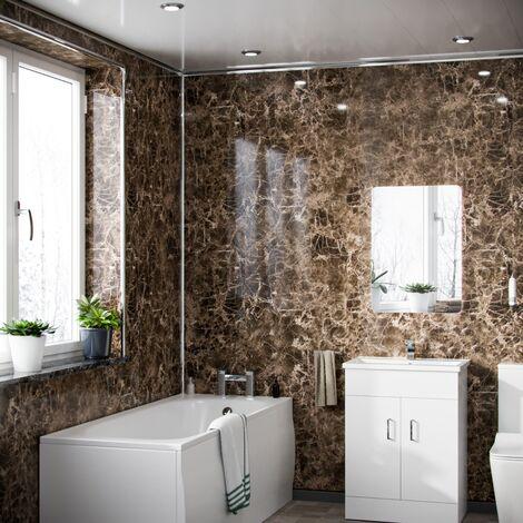 Mocha Onyx Effect PVC Cladding Wet Wall Panels
