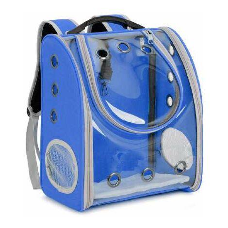 Mochila Azul/transparente 33x21x39cm