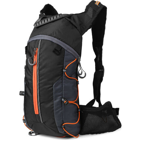 Mochila de ciclismo plegable, paquete de hidratacion al aire libre,naranja