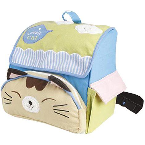 Mochila de gato con bolsillo delantero en forma de cara de gatito