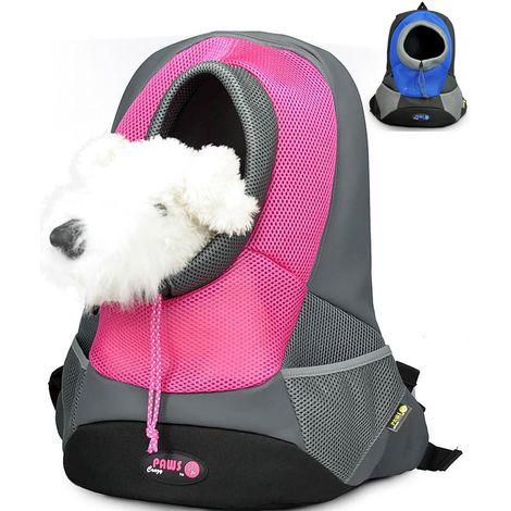 Mochila para perros max 5 kg en azul y rosa Paws