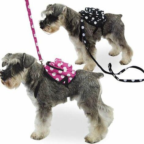 Mochila para perros pequeños MOCHILA LUNARES NEGRA