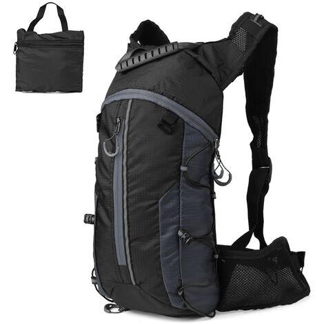 Mochila plegable Un Velo Leger deportes al aire libre de la bici de caballo en una bolsa de hidratacion Mochila, Negro