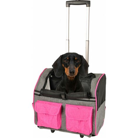 mochila trolley Kiara. rosa. 32 x 29 H89 cm . para perro.
