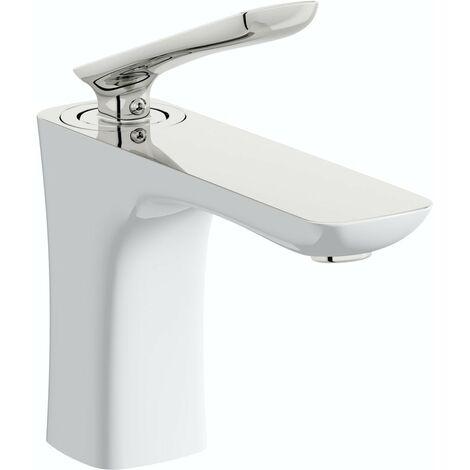 Mode Aalto white basin mixer tap