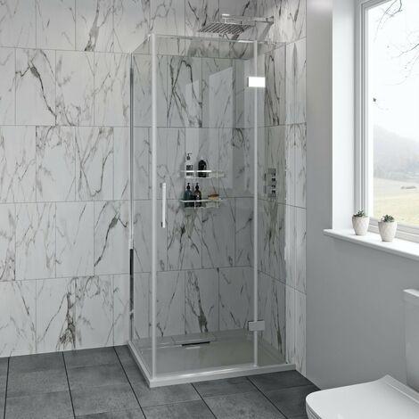 Mode Austin premium 8mm hinged easy clean shower enclosure 900 x 760