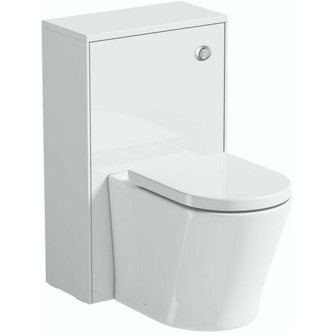 Mode Austin white back to wall unit and contemporary toilet with soft close seat