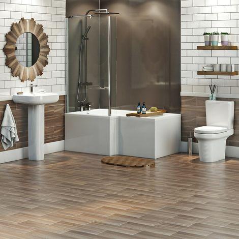 "main image of ""Mode Burton complete left hand shower bath suite"""