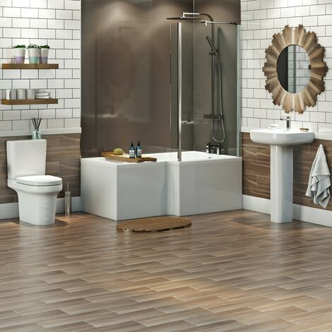 """main image of """"Mode Burton complete right hand shower bath suite"""""""