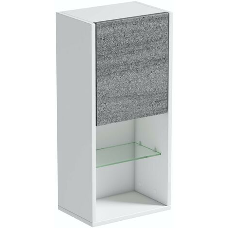 Mode Burton white & grey ice stone universal wall hung cabinet 700 x 330mm