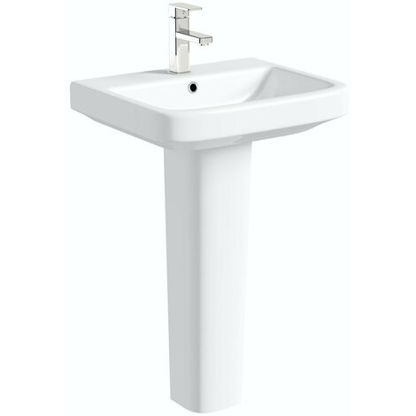 Mode Carter 1 tap hole full pedestal basin 550mm