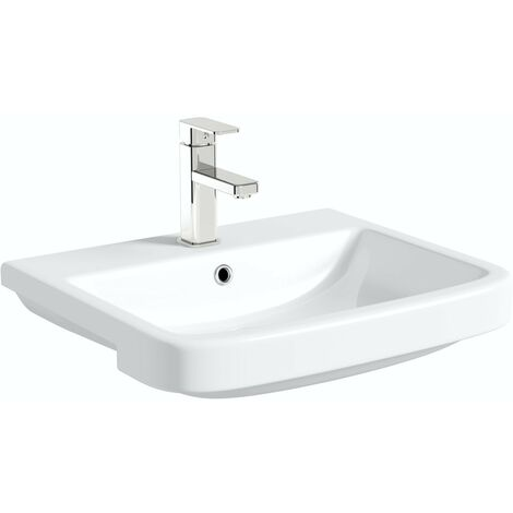 Mode Carter 1 tap hole semi recessed countertop basin 550mm