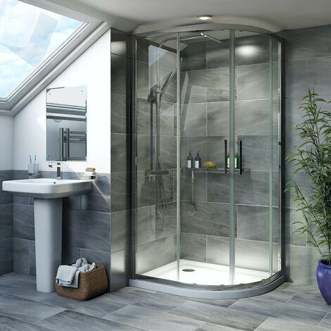 Mode Carter 8mm framed offset quadrant shower enclosure 1200 x 800