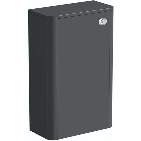 Mode Carter slate gloss grey back to wall toilet unit 500mm
