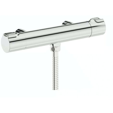 Mode Cool touch thermostatic shower bar valve with bottom outlet