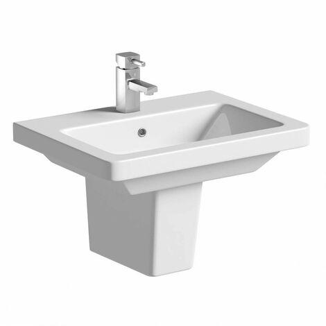 Mode Cooper 1 tap hole semi pedestal basin 550mm