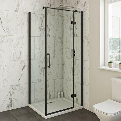 Mode Cooper 8mm black hinged shower enclosure 1000 x 800