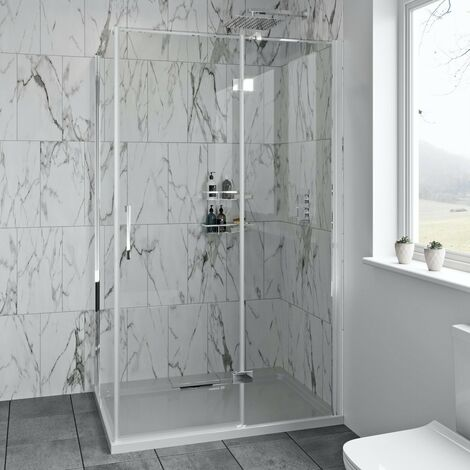 """main image of """"Mode Cooper 8mm hinged easy clean shower enclosure 1000 x 900"""""""