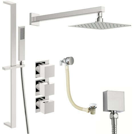 Mode Cooper thermostatic shower valve with complete wall shower bath set 250mm