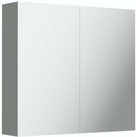 Mode Cortona grey 2 door mirror cabinet