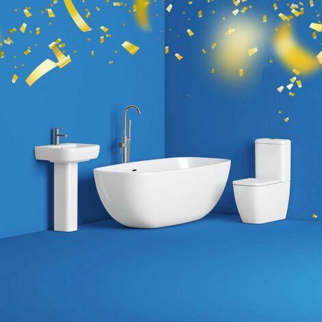 "main image of ""Mode Ellis bathroom suite with freestanding bath"""