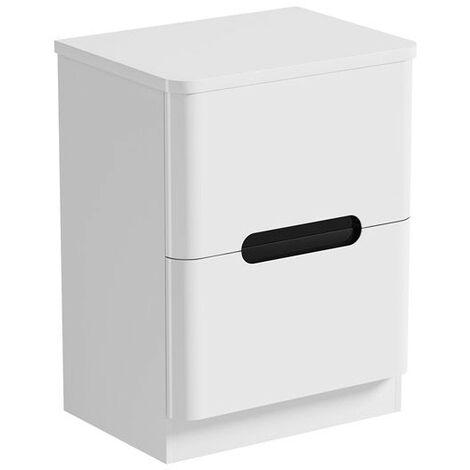 Mode Ellis essen floorstanding vanity drawer unit and countertop 600mm