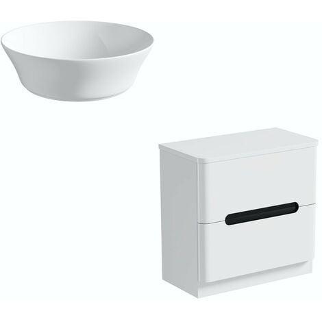 Mode Ellis essen floorstanding vanity drawer unit and countertop 800mm with Bowery basin