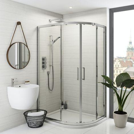 Mode Ellis premium 8mm easy clean offset quadrant shower enclosure 1200 x 800
