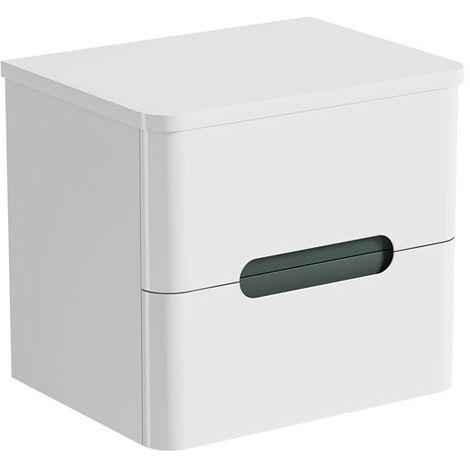 Mode Ellis slate wall hung vanity drawer unit and countertop 600mm
