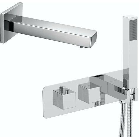 Mode Ellis square concealed thermostatic bath filler set