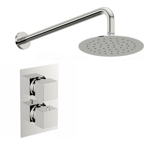 Mode Ellis thermostatic shower set 400mm shower head