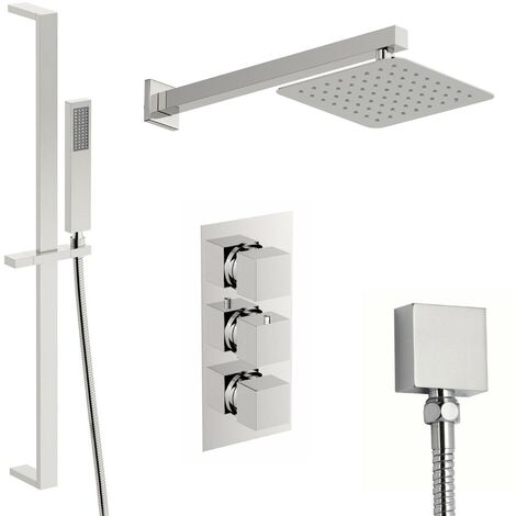 Mode Ellis thermostatic triple shower valve complete shower set with 200mm shower head