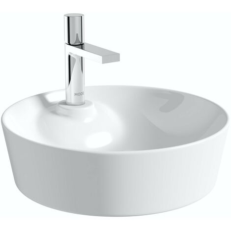 Mode Fairey round thin edge 1 tap hole countertop basin 450mm