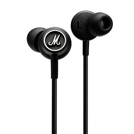 Mode Filaire Casque Audio Avec Des Ecouteurs Pilotes Microphone Confortable Leger Ecouteurs 3.5 Mm, Noir