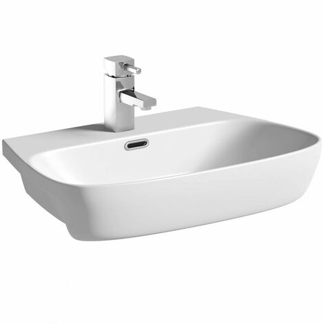 Mode Foster 1 tap hole semi recessed countertop basin 600mm
