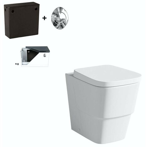 Mode Foster back to wall toilet with soft close seat and concealed cistern