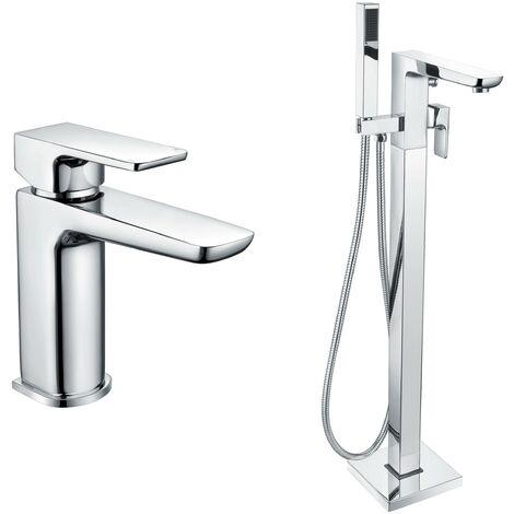 Mode Foster basin and freestanding bath filler tap pack