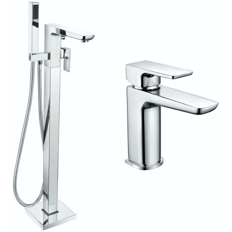 Mode Foster basin and freestanding bath tap pack