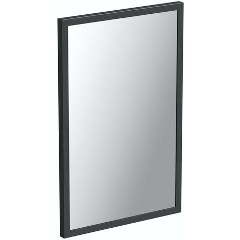 "main image of ""Mode Hale grey gloss bathroom mirror 800 x 550mm"""