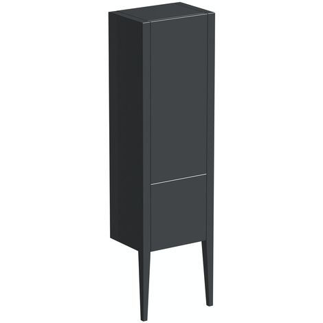 Mode Hale grey gloss wall hung cabinet 1500 x 420mm