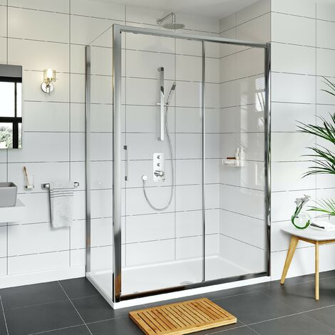 Mode Hardy 8mm easy clean shower enclosure and stone shower tray 1200 x 800