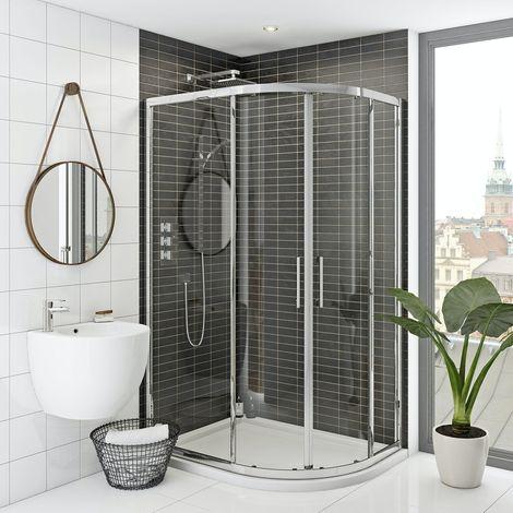 Mode Hardy premium 8mm easy clean offset quadrant shower enclosure 1200 x 800