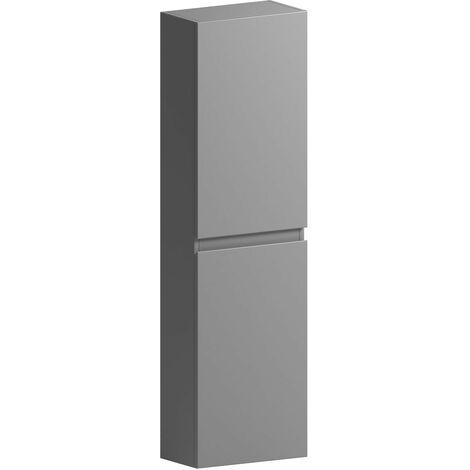 Mode Hardy slate matt grey wall hung cabinet 1400 x 350mm
