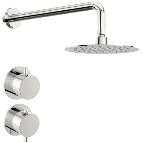 Mode Hardy thermostatic shower valve with wall shower set 400mm